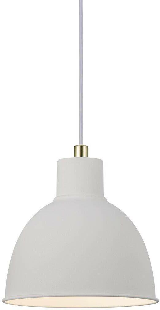 Lampa wisząca Pop 48733001 Nordlux biało-mosiężna oprawa w nowoczesnym stylu