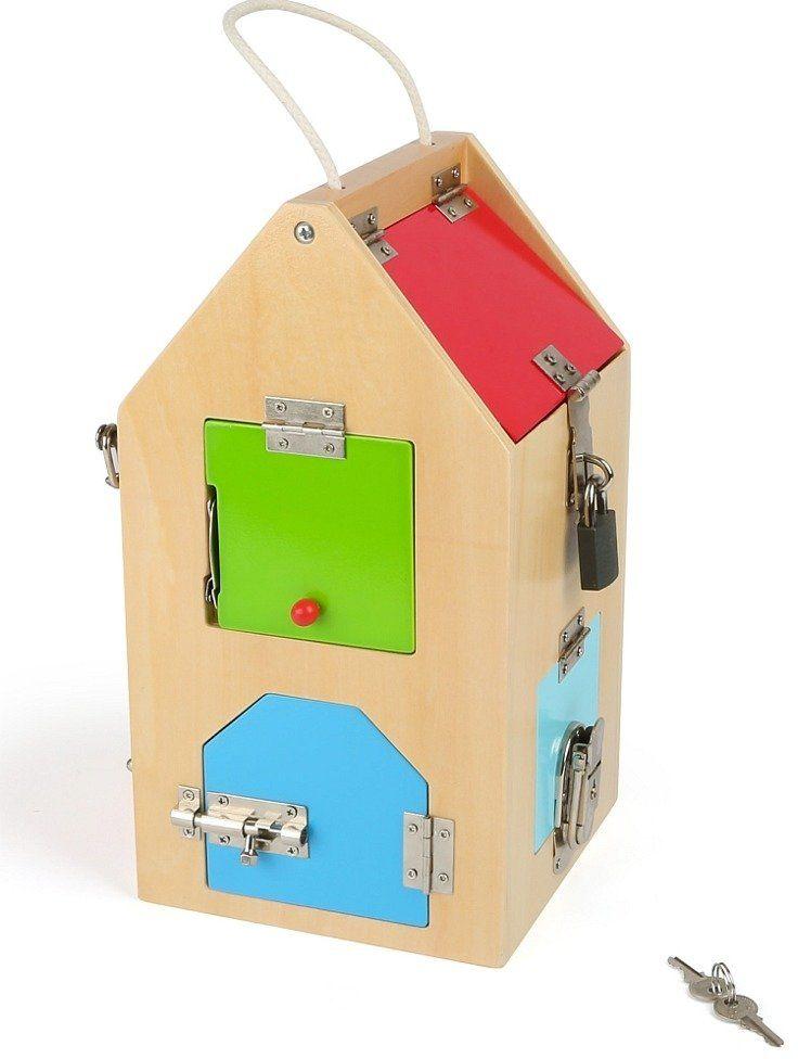 """Drewniany dom """"Pod kluczem"""", 4432-small foot design, zabawki rozwojowe"""