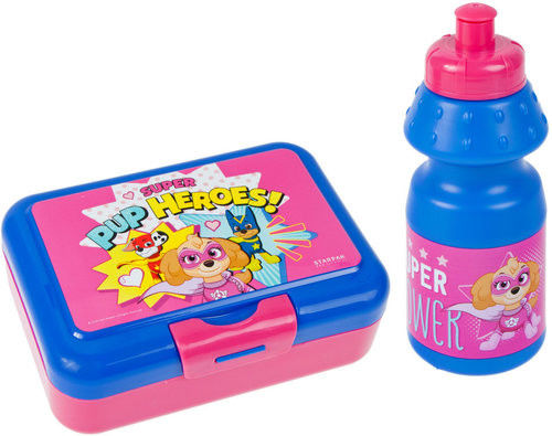Zestaw pojemnik śniadaniowy z Bidonem na napój Psi Patrol Skye Śniadaniówka dla dzieci