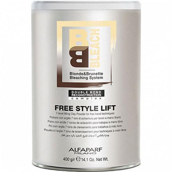 Alfaparf BB Free Style Lift rozjaśniacz, puder rozjaśniający do 7 tonów 400g