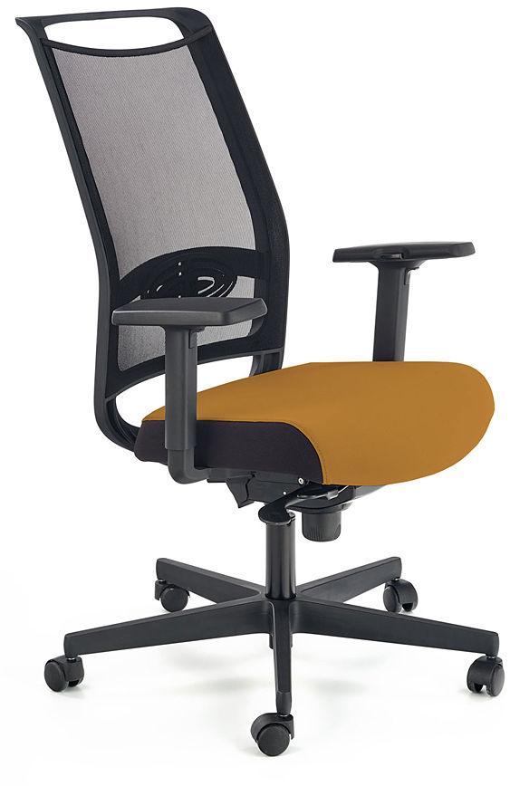 Musztardowy fotel gabinetowy - Romino