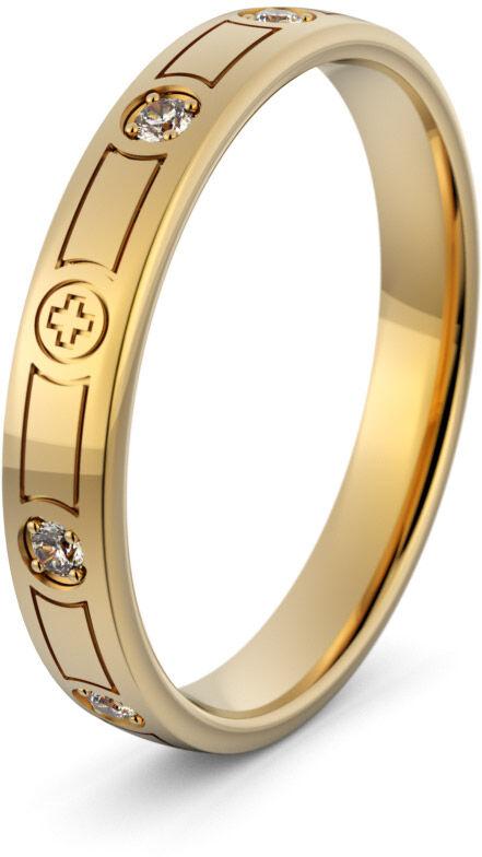 Pierścionek złoty różaniec - Au-1097