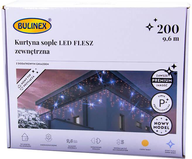 Kurtyna Sople LED biała ciepła 9,6m