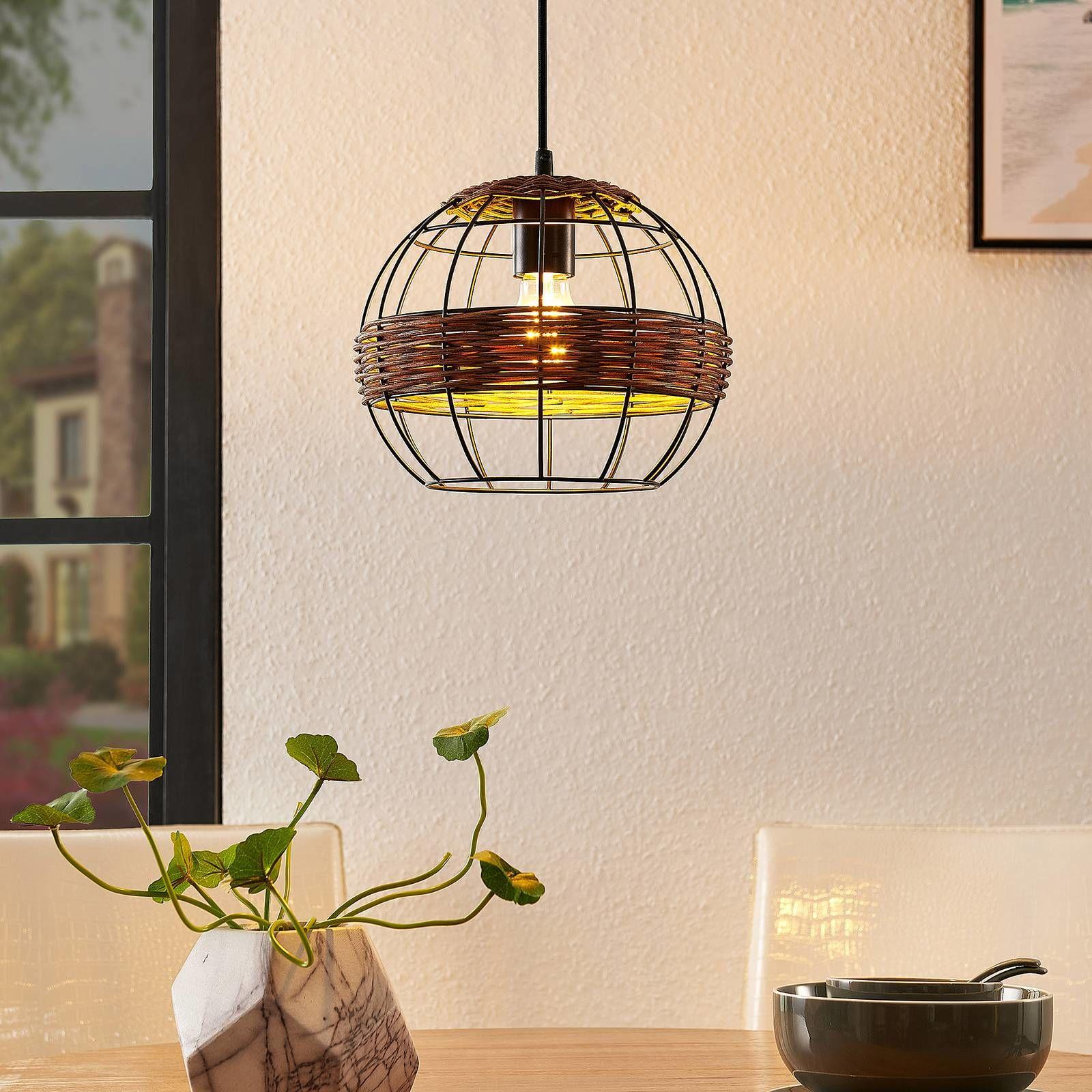 Lindby Kaska lampa wisząca, 1-punktowa, 25 cm