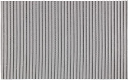 WENKO Szara, 50 x 80 cm, mata łazienkowa, mata kuchenna, tworzywo sztuczne, 50 x 0 x 80 cm