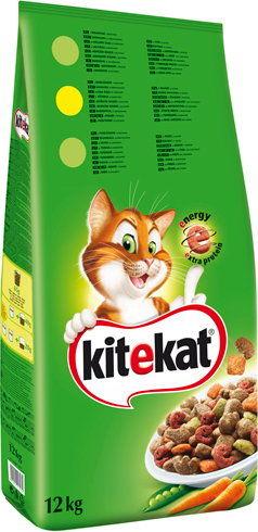 KITEKAT 12kg - sucha karma dla kotów z kurczakiem i warzywami