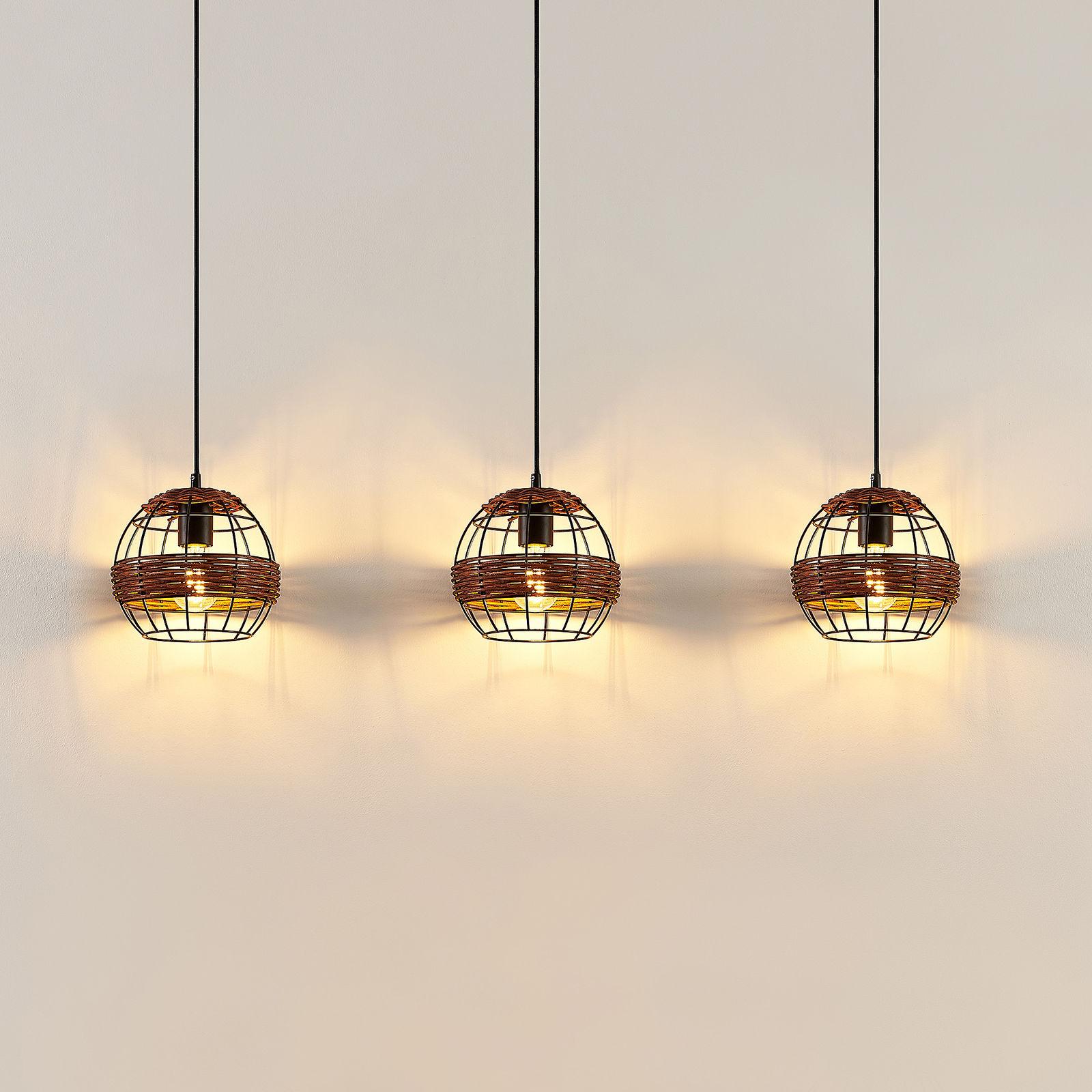 Lindby Kaska lampa wisząca, 3-punktowa