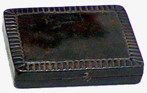 Better & Best Box pieczątka z tuszem, czarna, wymiary 13 x 10 x 7 cm, materiał: metal, rozmiar uniwersalny