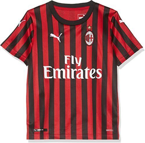 PUMA Repl.jr Top1 Player koszulka domowa, uniseks dla dzieci, Ac Milan 1899 czerwony Tango Red/Puma Black 128