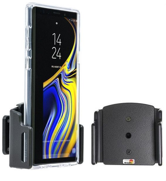 Uchwyt uniwersalny regulowany do Samsung Galaxy A70 bez futerału oraz w futerale lub etui o wymiarach: 75-89 mm (szer.), 2-10 mm (grubość).