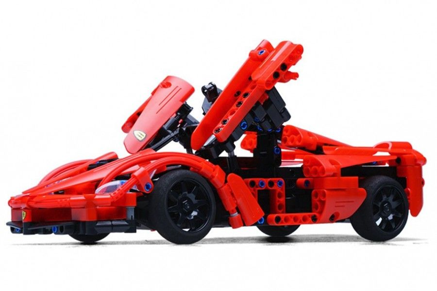 Samochód sportowy - klocki CADA - ZDALNIE STEROWANY (C51009W)