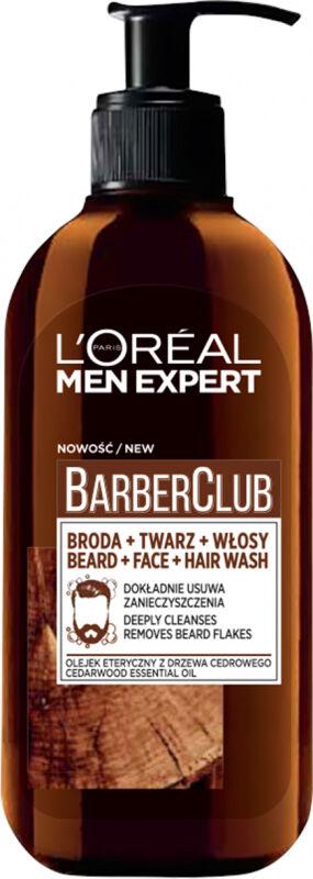 L''Oréal - MEN EXPERT - BARBER CLUB GEL - Żel oczyszczający do brody, twarzy i włosów - 200 ml