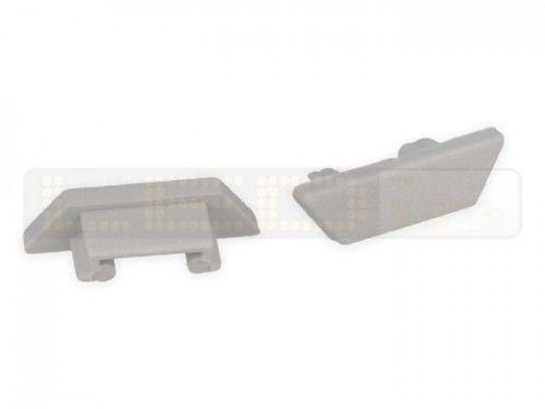 Zaślepka szara płaska kpl. 2 sztuki do profilu LED elastycznego ARC