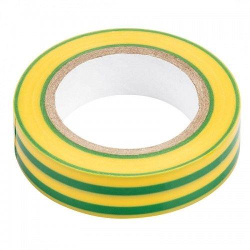 Taśma izolacyjna PVC 15mm / 10m żółto-zielona