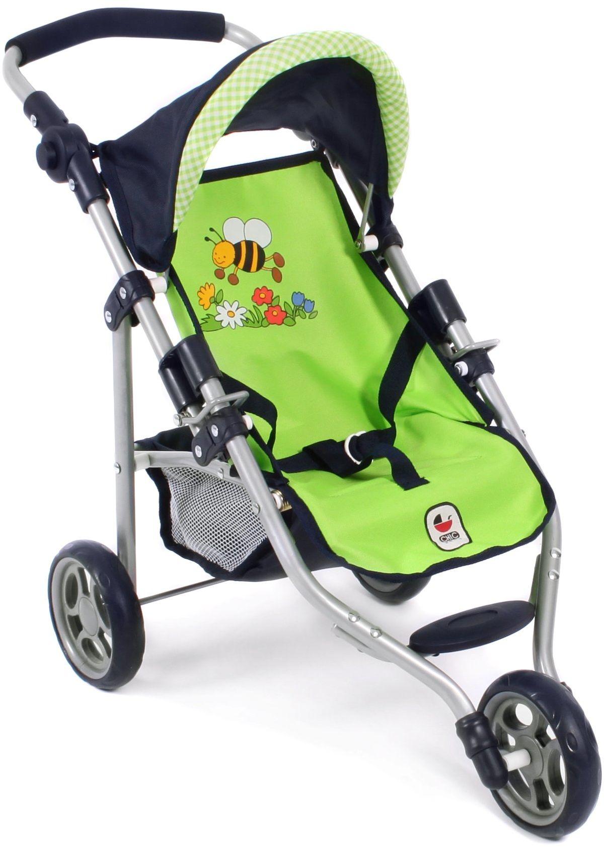 Bayer Chic 2000 612 16 - Jogging Buggy Lola, wózek dla lalek, Bumblebee, zielony