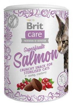 Brit Care Snack Superfruits Salmon Łosoś Róża Żurawina Sterilised Cat 100 g