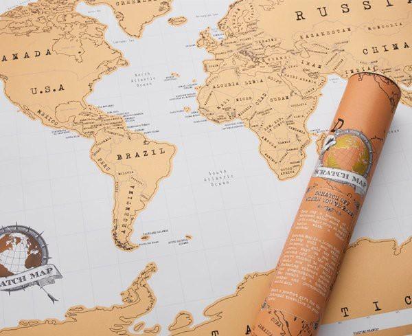 Mapka zdrapka  Świat