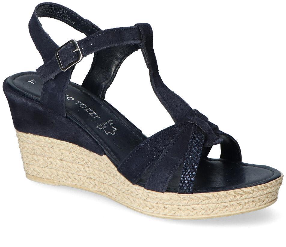 Sandały Marco Tozzi 2-28387-26 Granatowe zamsz