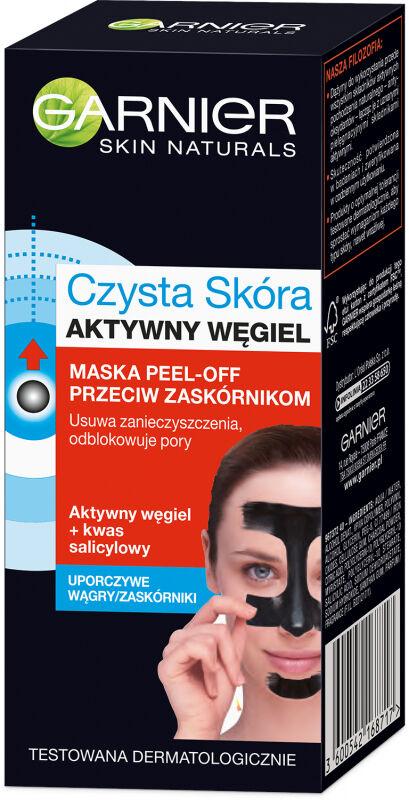 GARNIER - CZYSTA SKÓRA - Aktywny Węgiel - Maska Peel Off przeciw zaskórnikom - 50 ml