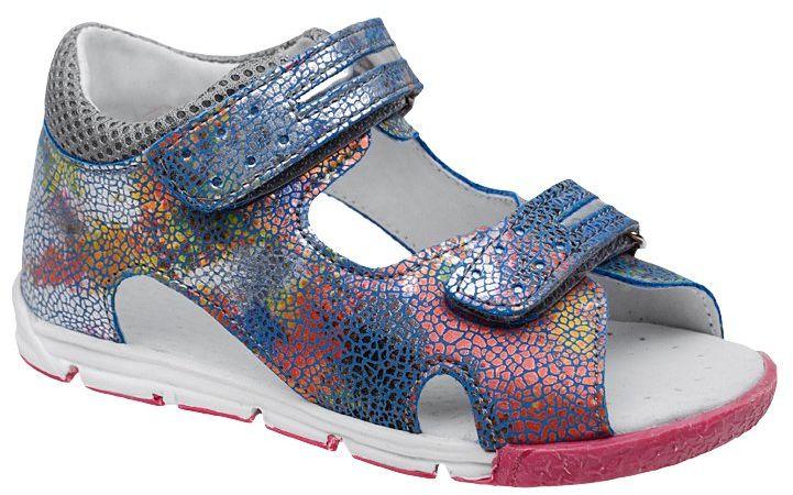Sandałki dla dziewczynki KORNECKI 4952 Niebieskie Multikolor