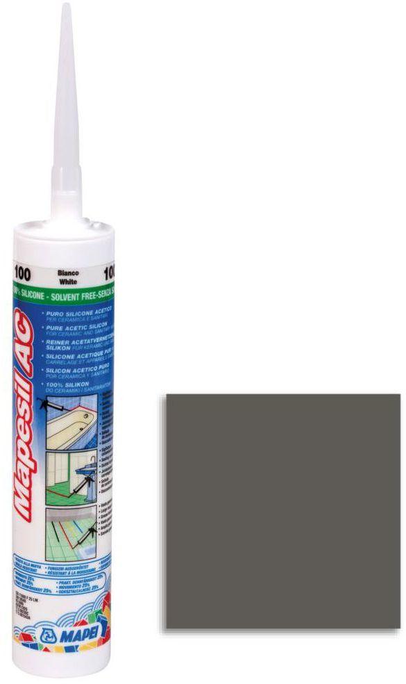 Silikon sanitarny MAPESIL AC 114 310 ml Antracytowy MAPEI