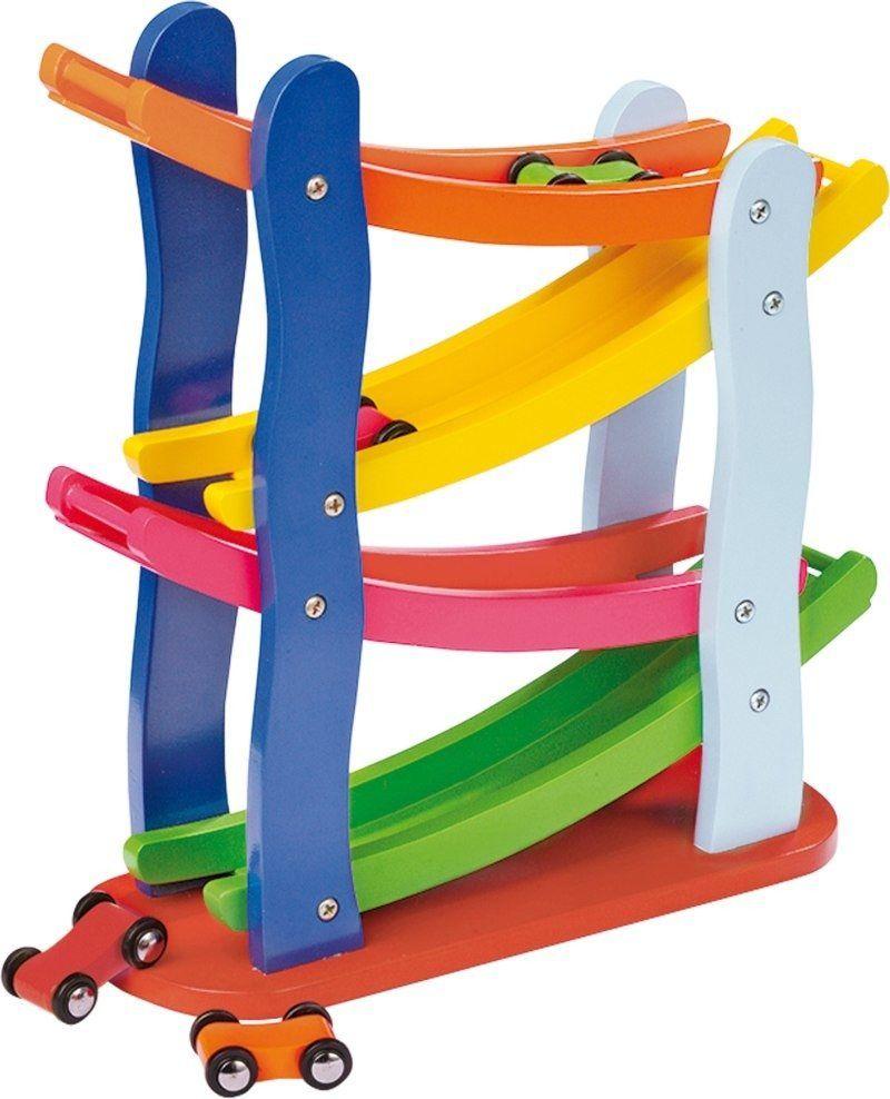 Kolorowy tor wyścigowy, small foot design - zabawki drewniane