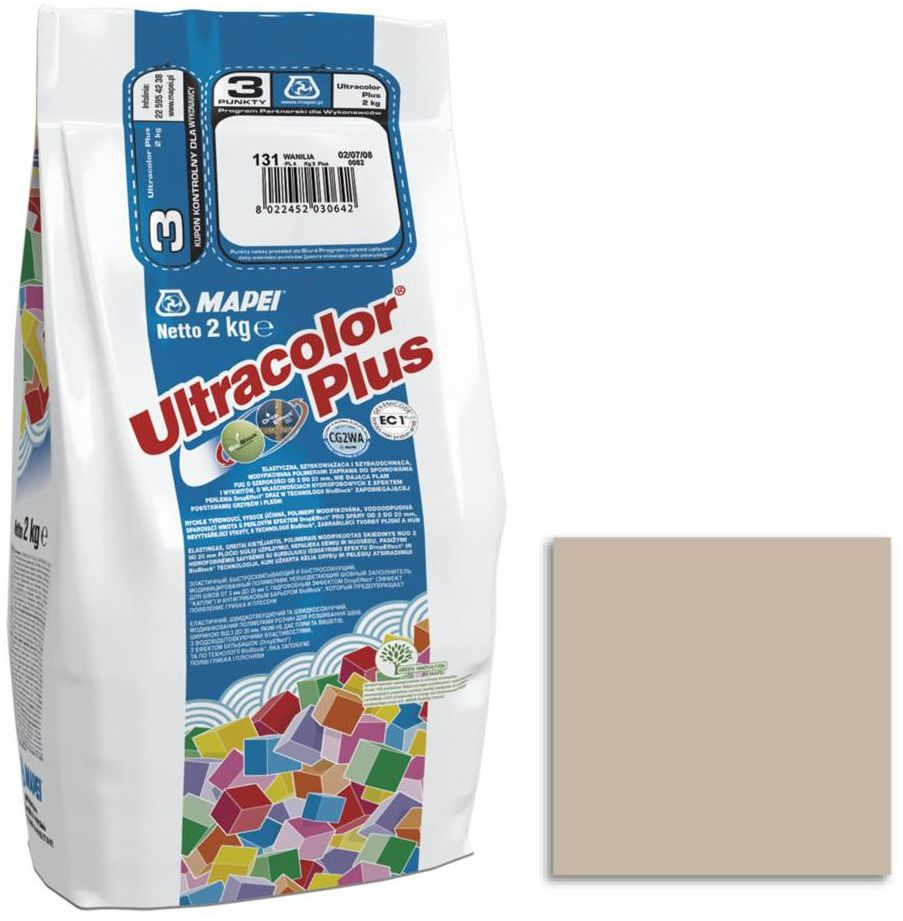 Fuga cementowa ULTRACOLOR 132 beżowy 2 kg MAPEI