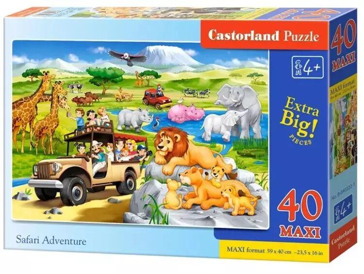 Puzzle 40 maxi Przygoda na Safari B-040322 - CASTOR