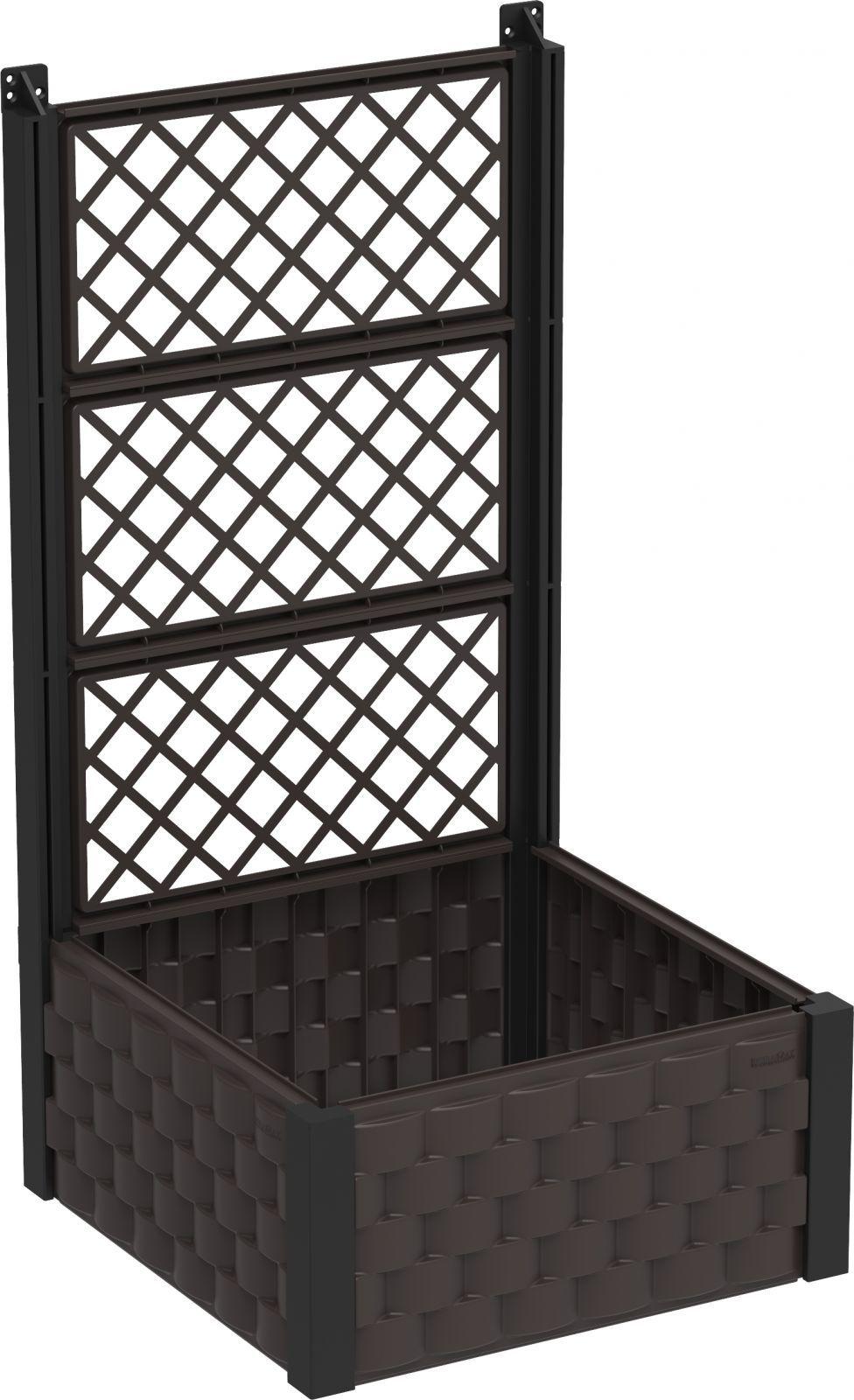 DURAMAX Nadziemny kwietnik 55 x 55 cm z trelażem, brązowy, Duramax IDMFPGB006DW