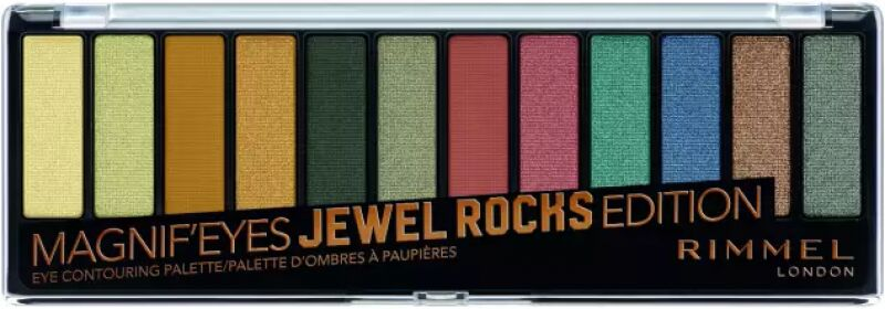 RIMMEL - MAGNIF''EYES - Eye Contouring Palette - Paleta 12 cieni do powiek - 009 JEWEL ROCKS EDITION