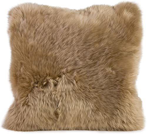 Gözze poszewka na poduszkę z owczej skóry, 40 x 40 cm, taupe, 40149-71-4141
