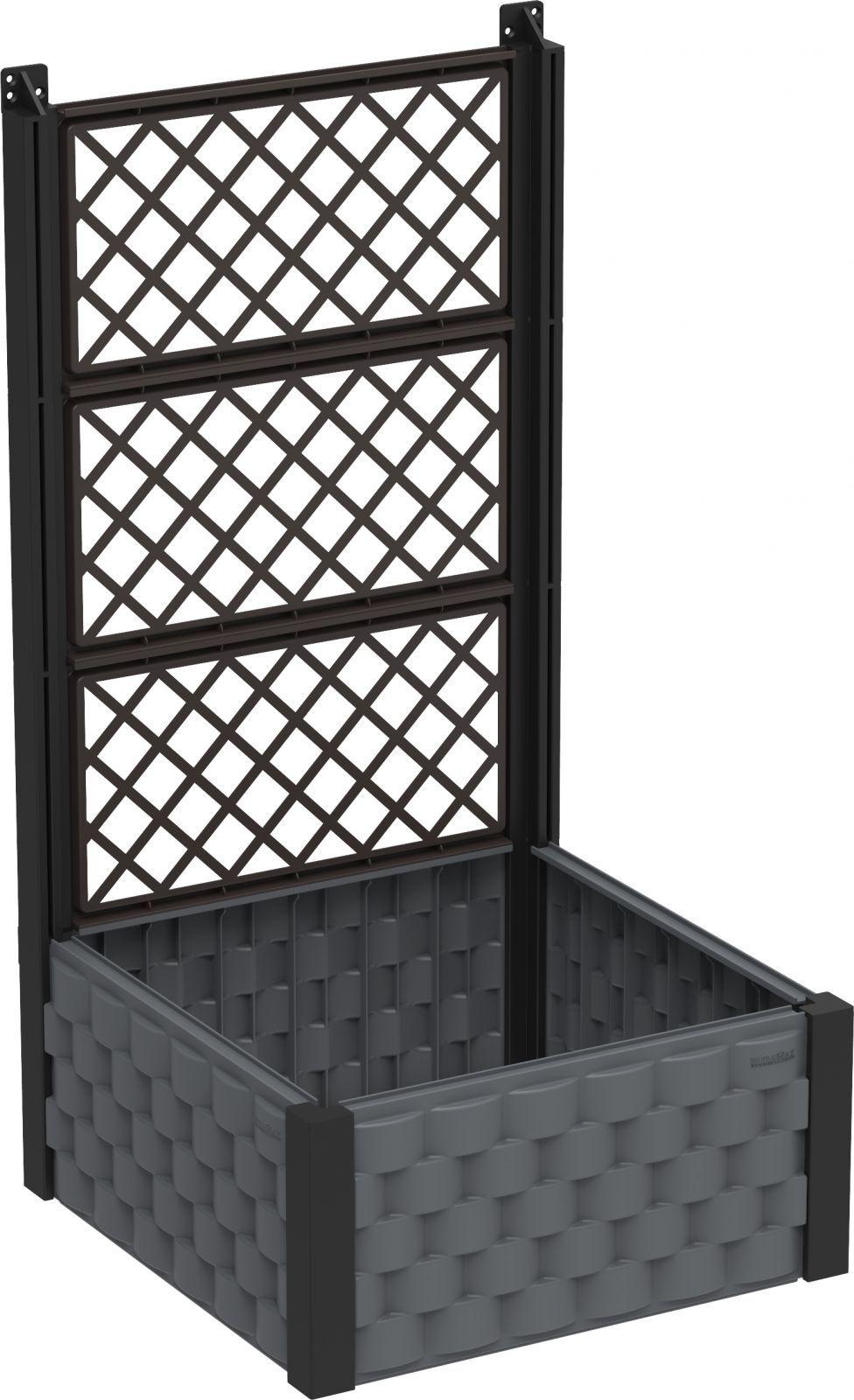 DURAMAX Kwietnik nadziemny 55 x 55 cm z trelażem, antracyt Duramax IDMFPGB006CG