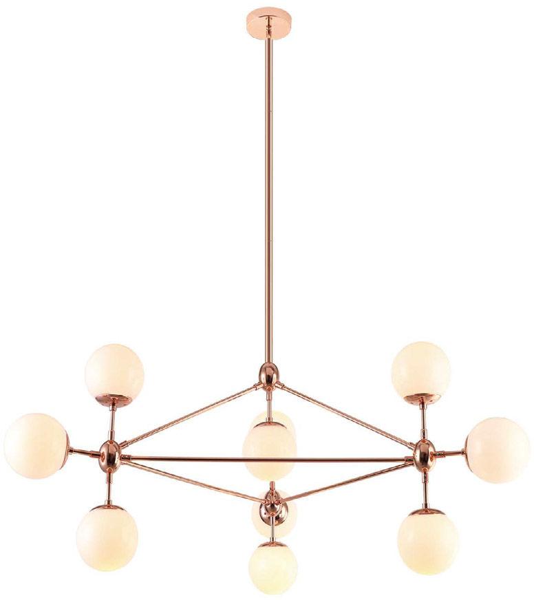 Lampa wisząca Bao Gold Orlicki Design złota oprawa w dekoracyjnym stylu