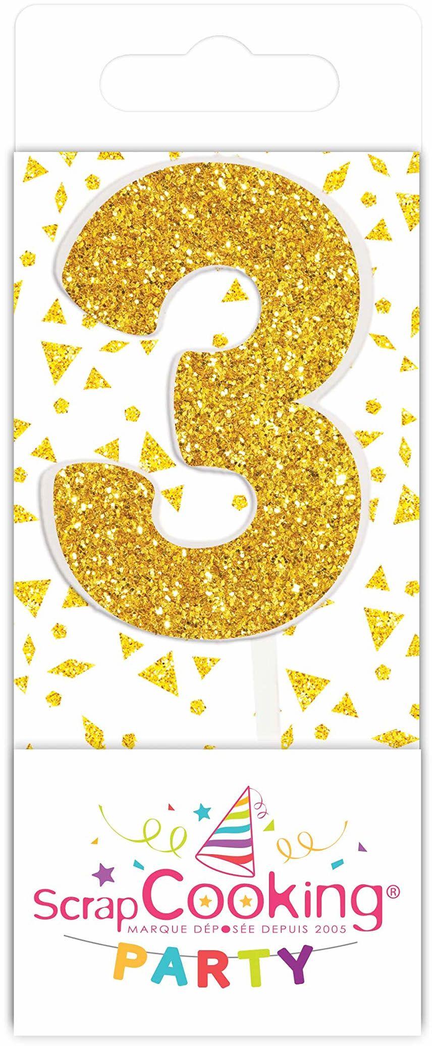 Scrapcooking 0593 mini świeca, kolor złoty