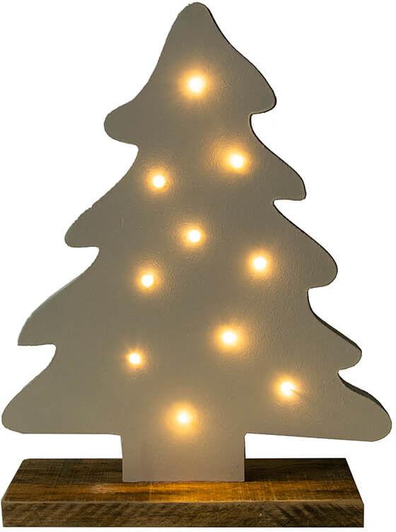 Choinka LED drewniana 40 cm