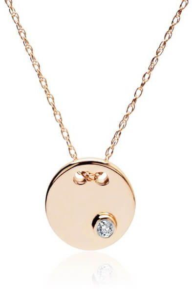 Złoty naszyjnik NZD4206 - Diament