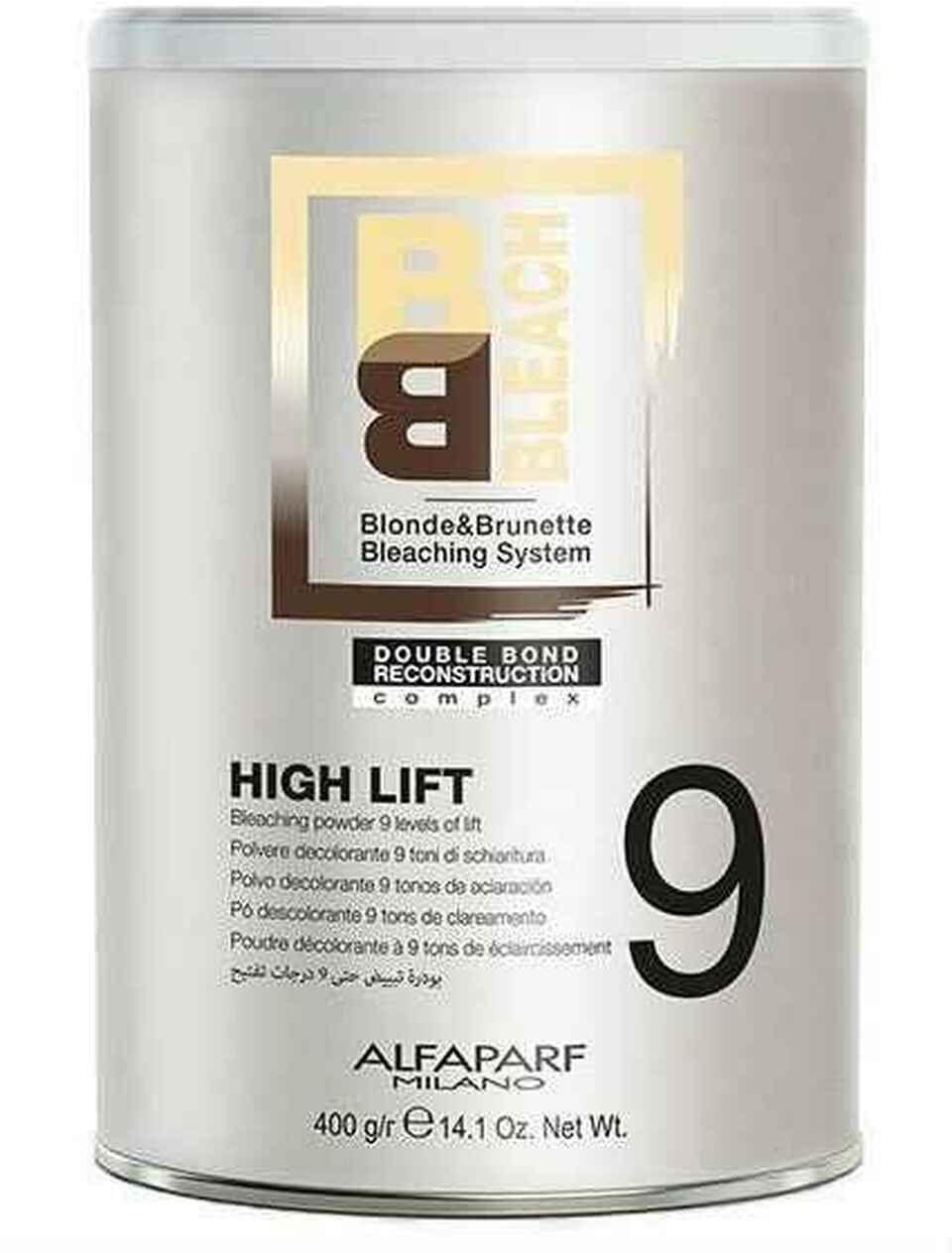Alfaparf BB, rozjaśniacz, puder rozjaśniający do 9 tonów, High Lift, 400g