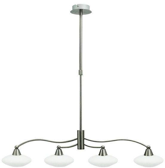Lampa wisząca nowoczesna żyrandol ELISA IV satyna/biały szer. 73cm