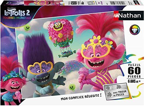 Nathan 4005556865680 60 pièces Poppy et Branche Trolls 2 puzzle dla dzieci