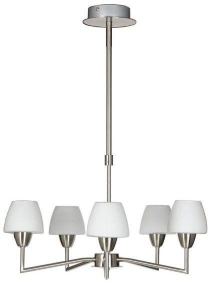 Lampa wisząca nowoczesna żyrandol TOGO V satyna/biały śr. 45cm - 5