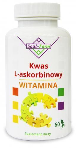 Witamina C (kwas l-askorbinowy) 800mg 60 kaps Soul Farm