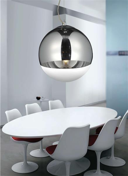Lumina Deco Ibiza nowoczesna chromowana lampa wisząca
