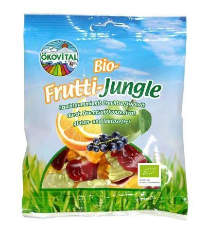 Żelki ZWIERZAKI owocowe bez laktozy bezglutenowe BIO 100 g Okovital
