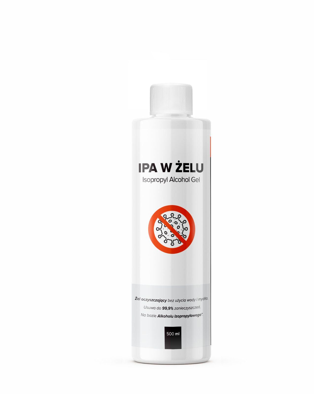 RR Customs IPA w żelu  alkohol izopropylowy w żelu, usuwa do 99,9% zanieczyszczeń 500ml