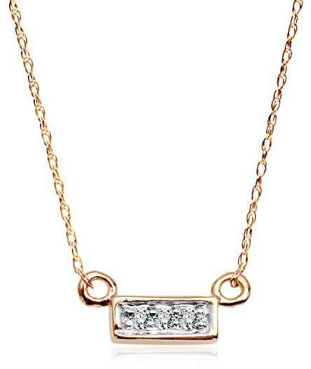 Złoty naszyjnik NZD4761 - Diament