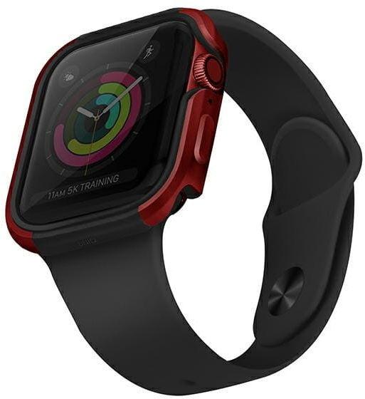 UNIQ etui Valencia Apple Watch Series 4/5/6/SE 44mm czerwony/crimson red