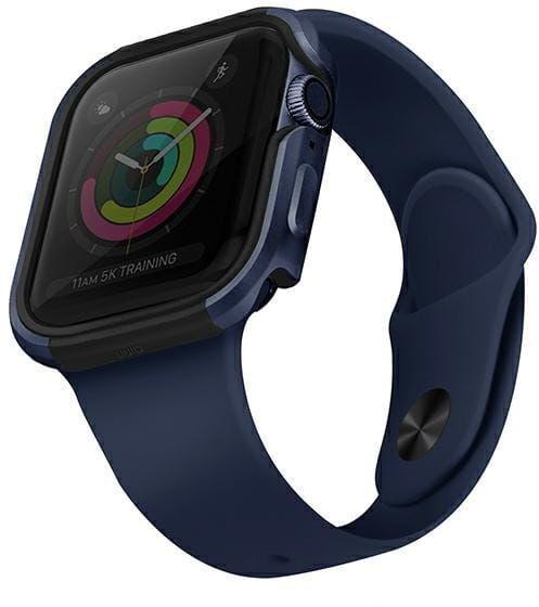 UNIQ etui Valencia Apple Watch Series 4/5/6/SE 44mm niebieski/atlantic blue