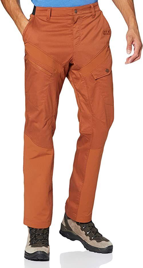 Jack Wolfskin Męskie spodnie Dover Road Cargo Pantaloni brązowy miedź L