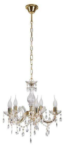Lampa wisząca elegancki kryształowy żyrandol MARIA TERESA V złoty śr. 48cm - 5