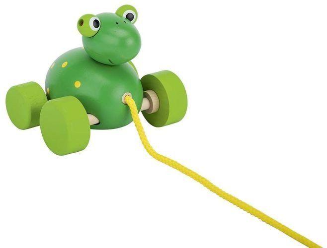 Żabka do ciągnięcia, goki - zabawka dla dzieci 1 rok